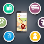 What do school-bus tracking systems track?