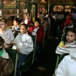 Children Locked Inside the School Bus by the Driver