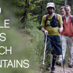 Blind People Cross French Mountains