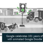 Google Celebrates 101 Years of Traffic Light with Animated Google Doodle
