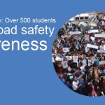 Rally for Safety: Over 500 Students Promote Road safety Awareness