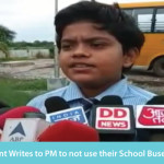 8th Std Student Writes to PM to not Use their School Buses for the Rally