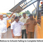 RTO Issues Notices to Schools Failing to Complete Vehicle Inspection