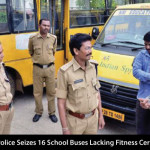 Traffic Police Seizes 16 School Buses Lacking Fitness Certificates