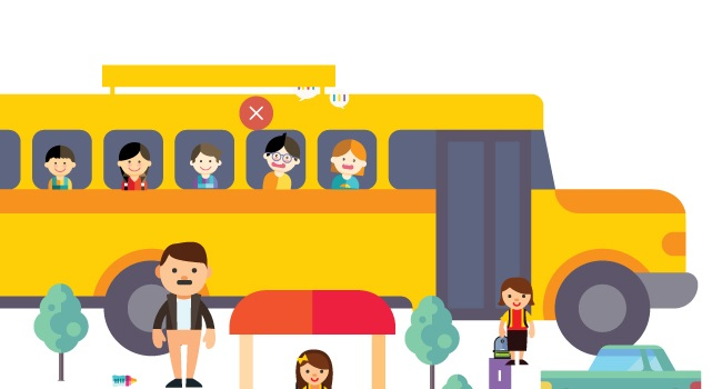 School Bus Safety Rules For Kindergarten Students Part I