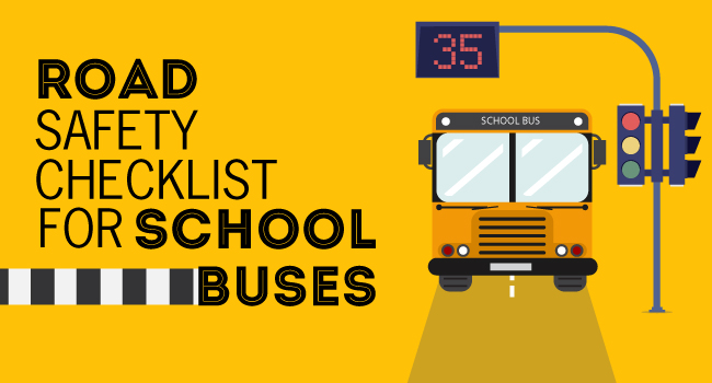 Road Safety Checklist For School Buses Trackschoolbus