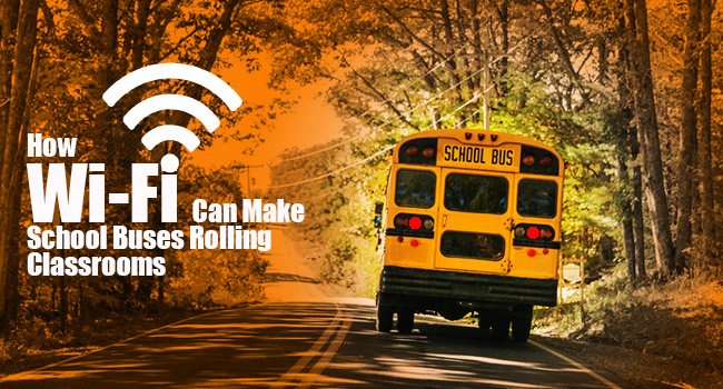 How wifi can make school buses rolling classrooms image