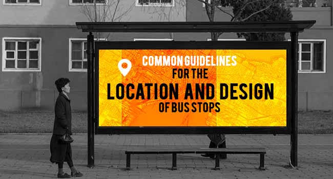 Common Guidelines for the Location and Design of School Bus Stops