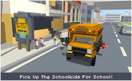 Blocky School Bus Simulator Craft